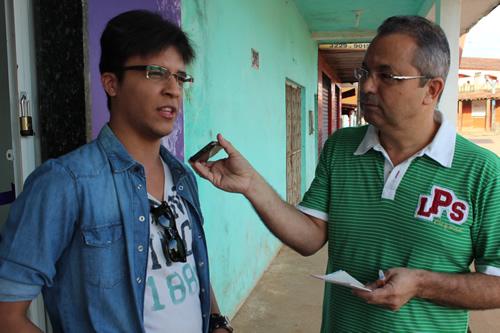 Estudante Yuri Mello participa da atividade